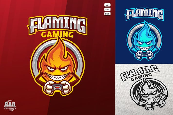 Thumbnail for Mock-up Gamer Flame Esport