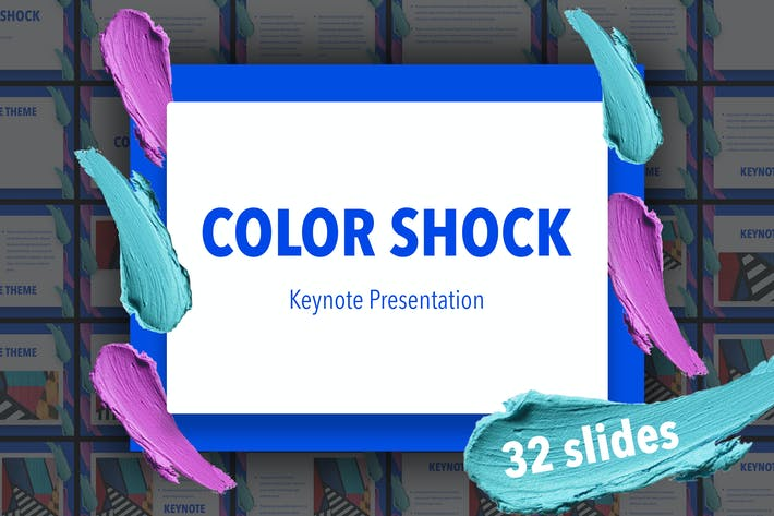Thumbnail for Color Shock Keynote Template