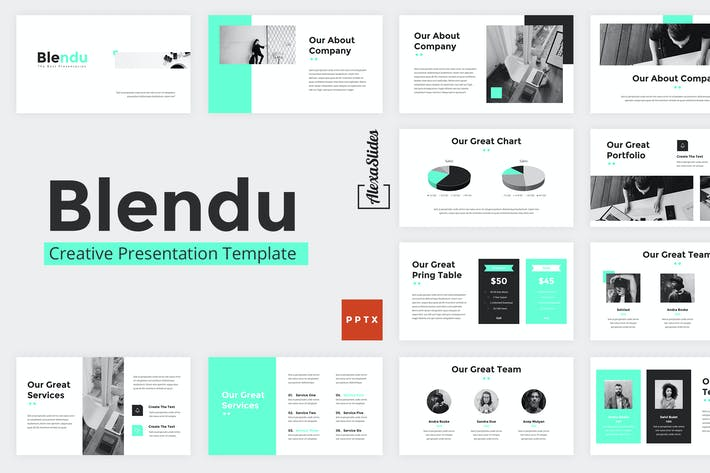 Cover Image For Blendu - Powerpoint Presentation Template