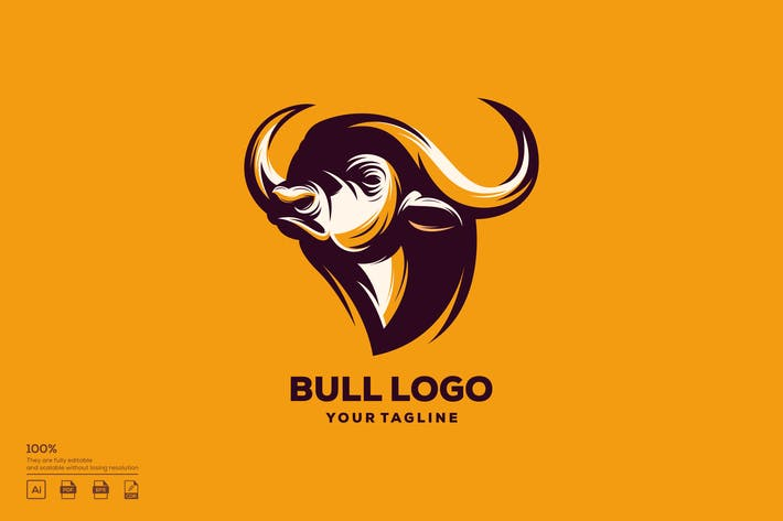 Thumbnail for Bull logo design vector