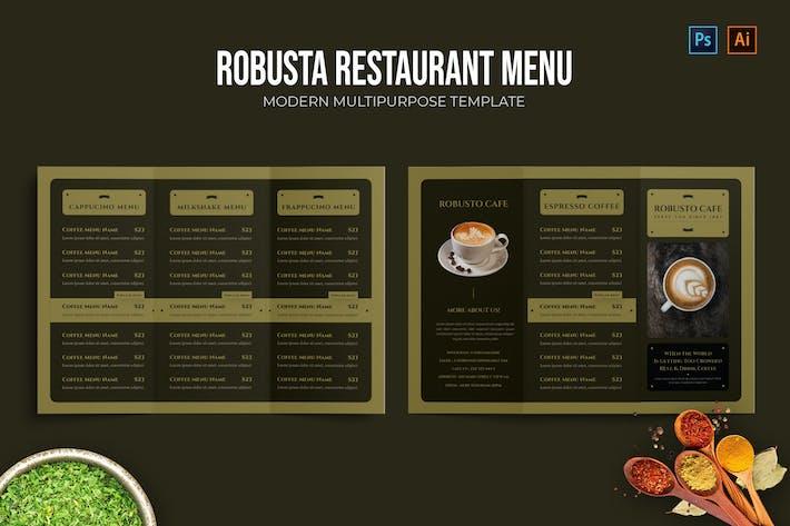Robusta - Restaurant Menu