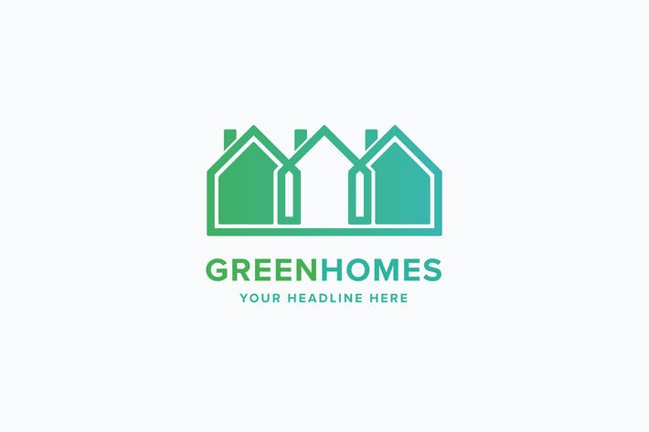 Thumbnail for Green Homes Logo Template