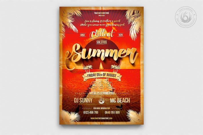 Thumbnail for Summer Lounge Flyer Template V1