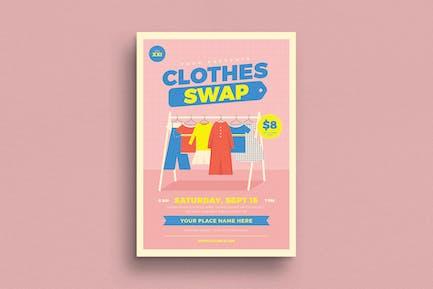 Flyer d'échange de vêtements