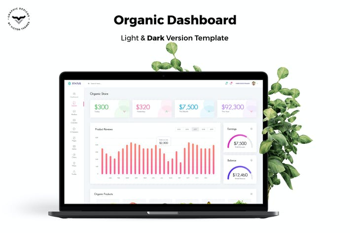 Thumbnail for Organic Store Admin Dashboard UI Kit