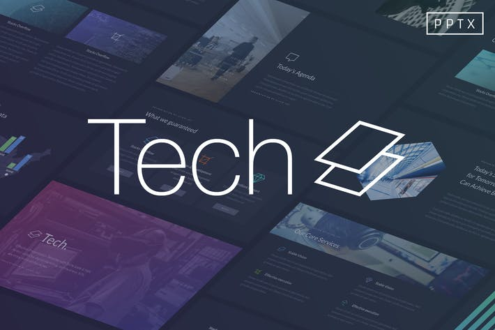 Tech Powerpoint Template By Slidehack On Envato Elements