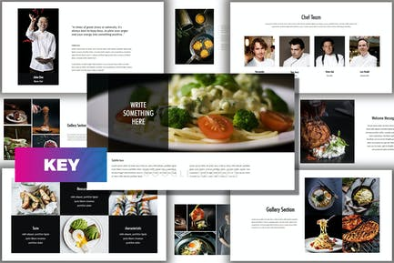 Core - Еда и напитки Творческий Шаблон Keynote