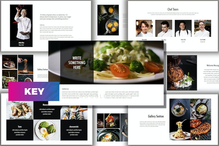Thumbnail for Core - Food Keynote Template