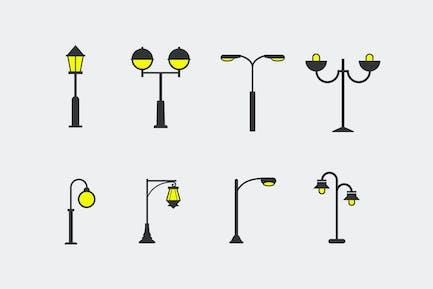 8 Street Lamp Icons