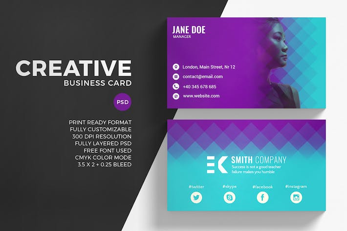Thumbnail for Modern Creative Business Card