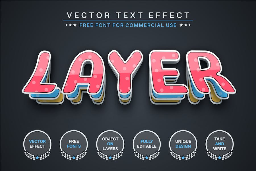 Origami paper - editable text effect, font style
