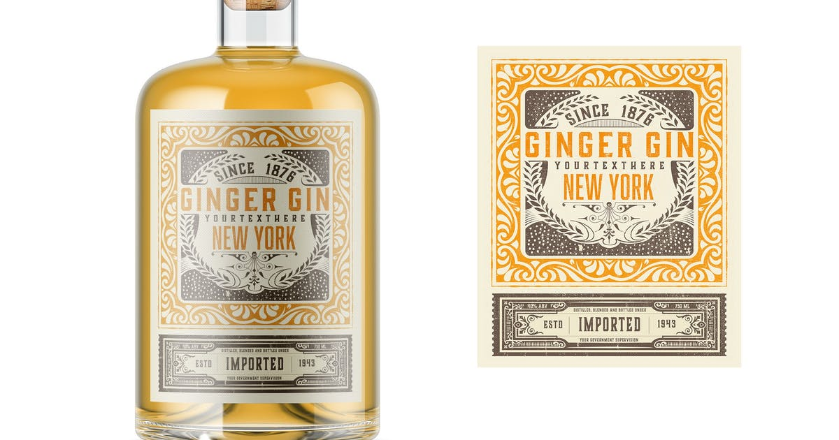 Download Vintage Liquor Bottle Packaging Layout by roverto007