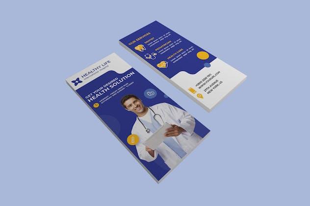 Medical healthy dl rackcard