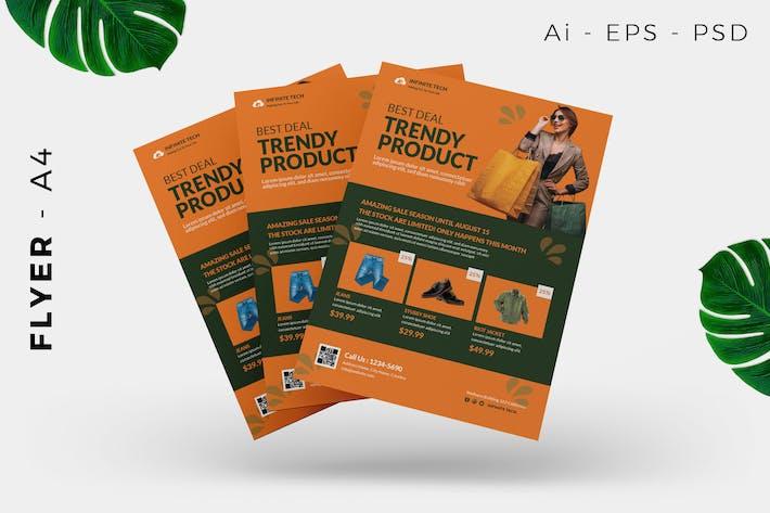 Thumbnail for Trendy Fashion Flyer Design