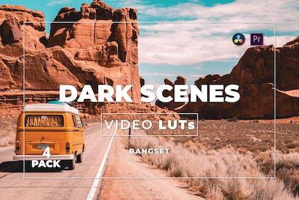 Pack 4 LUTs de vídeo de Bangset Dark Scenes