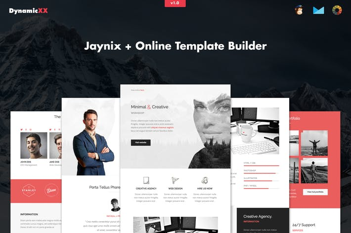Thumbnail for Jaynix - Responsive Corporate Portfolio Email