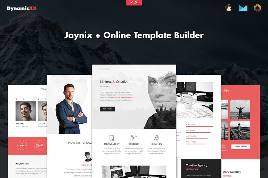 Jaynix - Responsive Corporate Portfolio Email