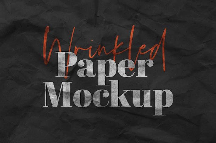 Thumbnail for Wrinkled Paper Mockup Vol.1