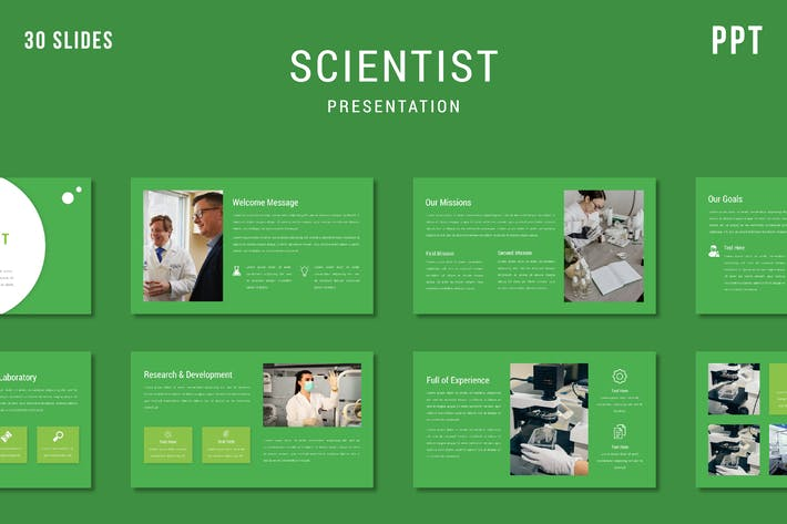 Thumbnail for Scientist - Powerpoint Template (2 version)