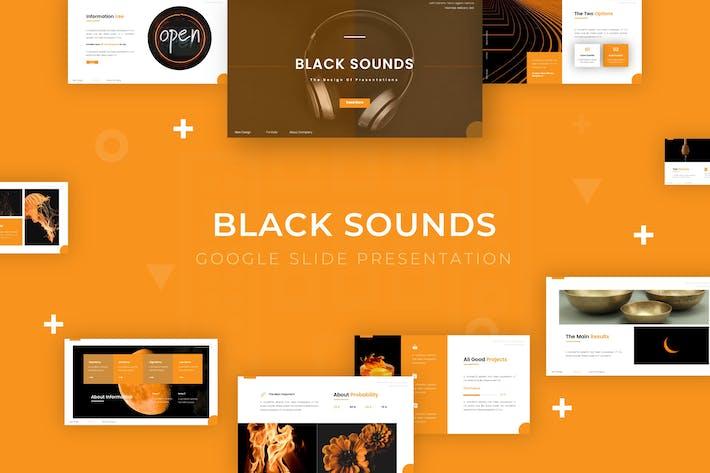 Черные звуки - Google Slide Шаблон