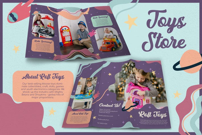 Thumbnail for Abstract Galaxy Toys Store - Brochure
