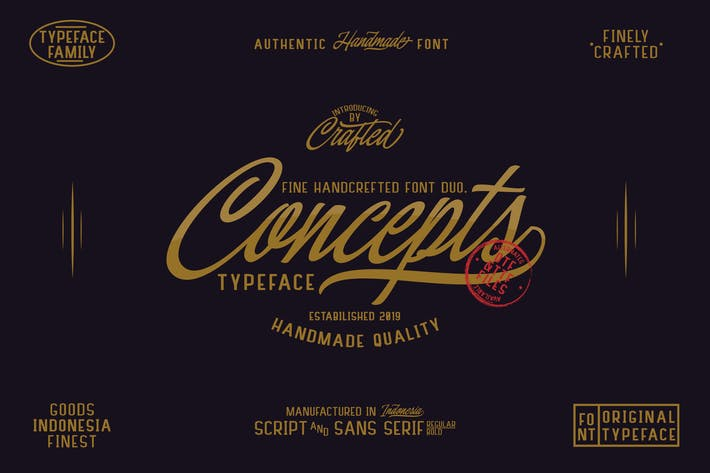 Thumbnail for Concepts Font Family