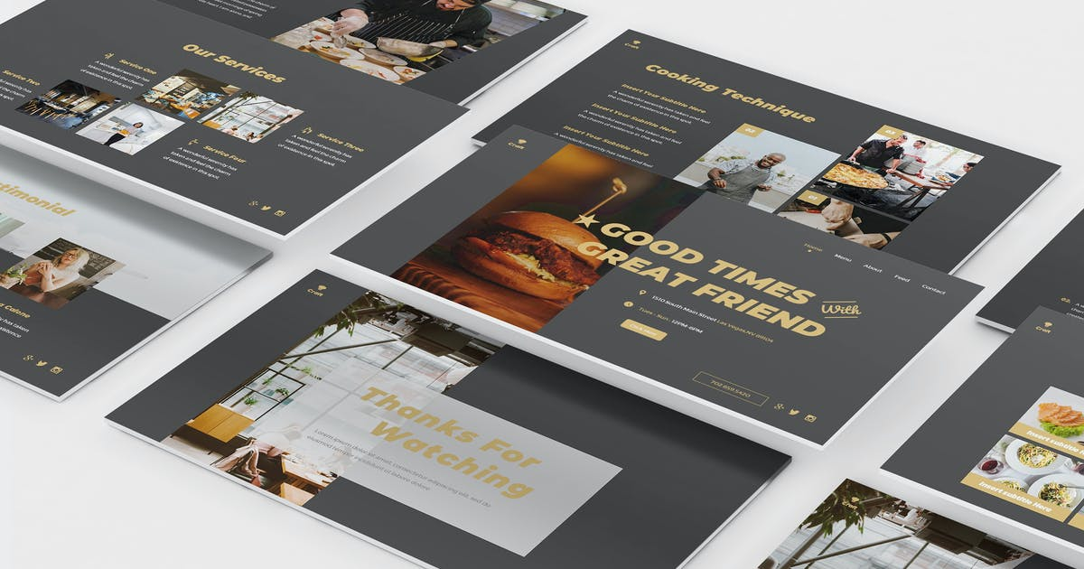 Download Craft Kitchen Powerpoint Template by Formatika
