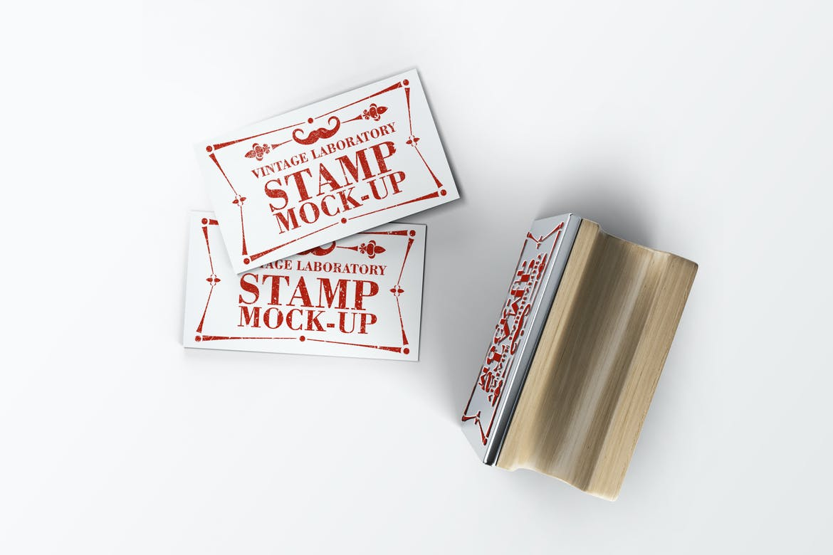 stamp business card mockup