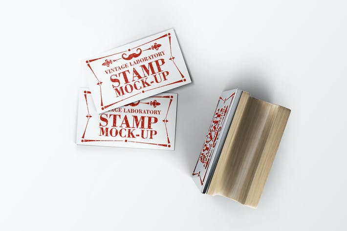 Thumbnail for Stamp Business Card Mock-Up