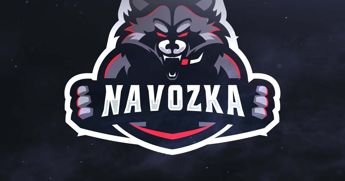 Racoon Sport and Esports Logos by ovozdigital