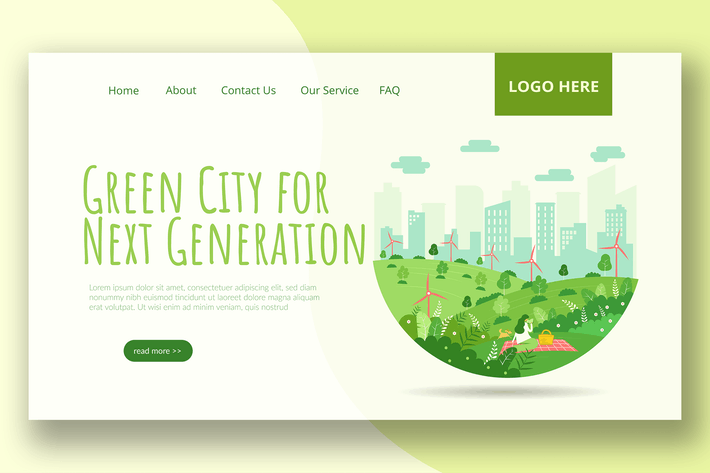 Thumbnail for Green City - Landing Page