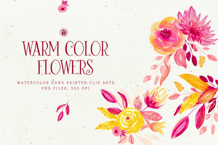 Cover Image For Warm Color Flowers