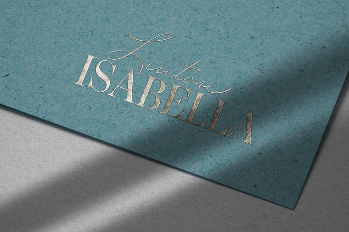 Embossed Silver Logo Mockup on Recycled Paper