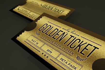 Mehrzweck-Goldenes Ticket Einladung