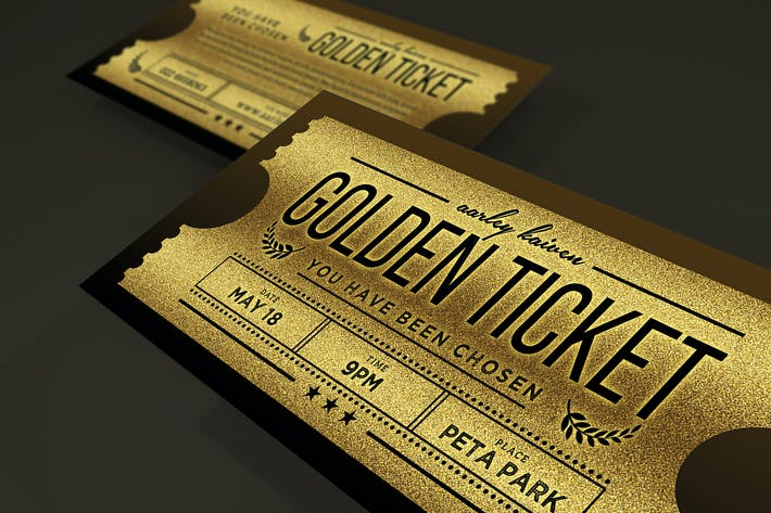 Thumbnail for Multipurpose Golden Ticket Invitation