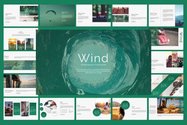 Thumbnail for Wind Powerpoint Template