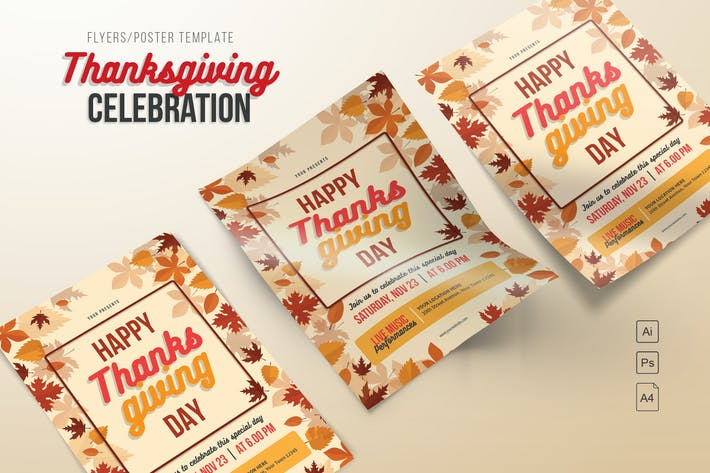 Cover Image For Happy Thanksgiving Day Flyers