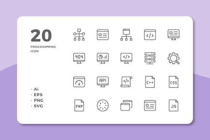 20 Programming Icons (Line)