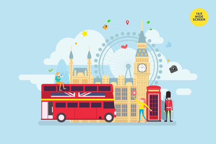 Thumbnail for London Tourism Vector Concept Illustration