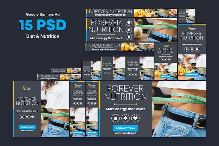 Thumbnail for Diet & Nutrition Banners Ad