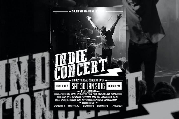Thumbnail for Indie Concert Poster Flyer