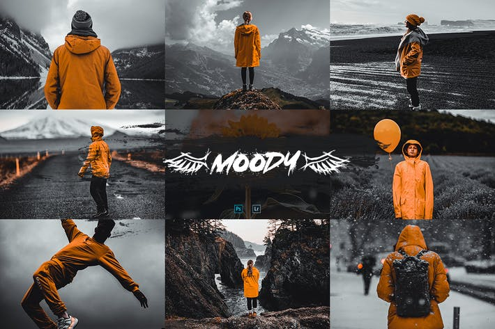 Thumbnail for Moody Actions & Presets - Aesthetic Serie