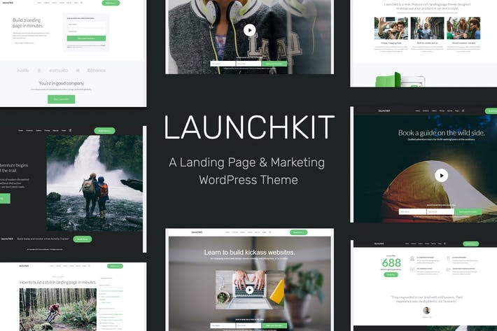Thumbnail for Launchkit Landing Page & Marketing WordPress Theme