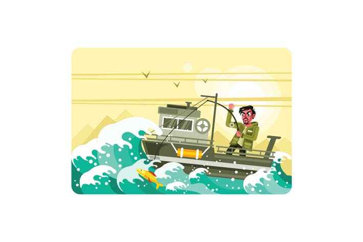 Thumbnail for Fisherman on the Boat