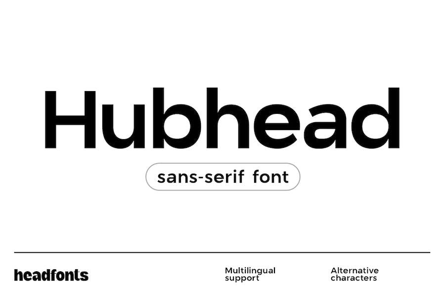 Hubhead Ggeometric Sans-Serif Font