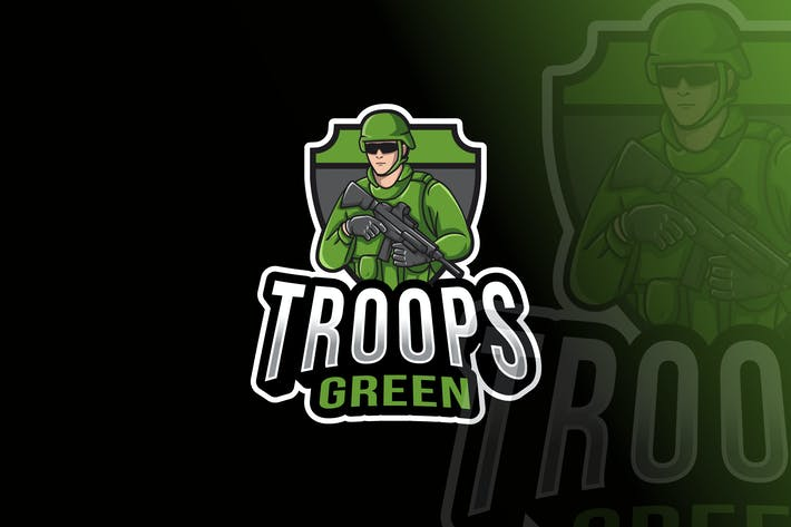 Thumbnail for Troops Green Logo Template