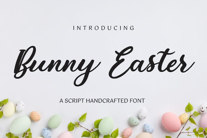 Thumbnail for Bunny Easter - Script Handcrafted Font