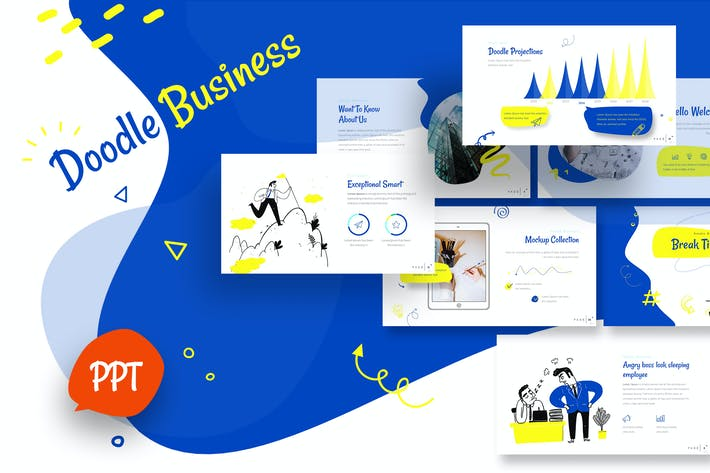 Thumbnail for Doodle Business Powerpoint Template