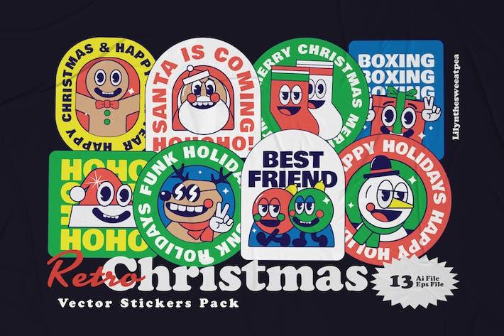 Weihnachts-Aufkleber-Illustr