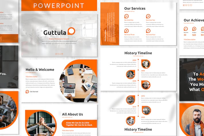 Thumbnail for Guttula - Business Powerpoint Template